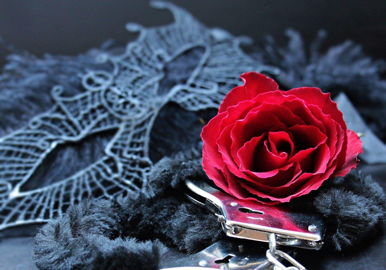 手錠とバラ