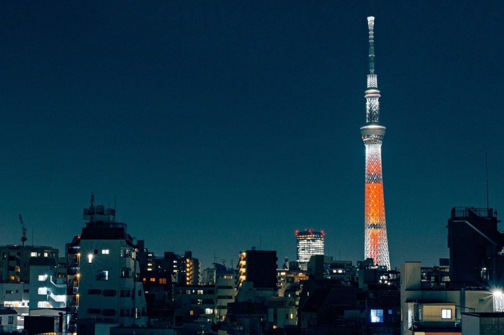 東京、夜、日本
