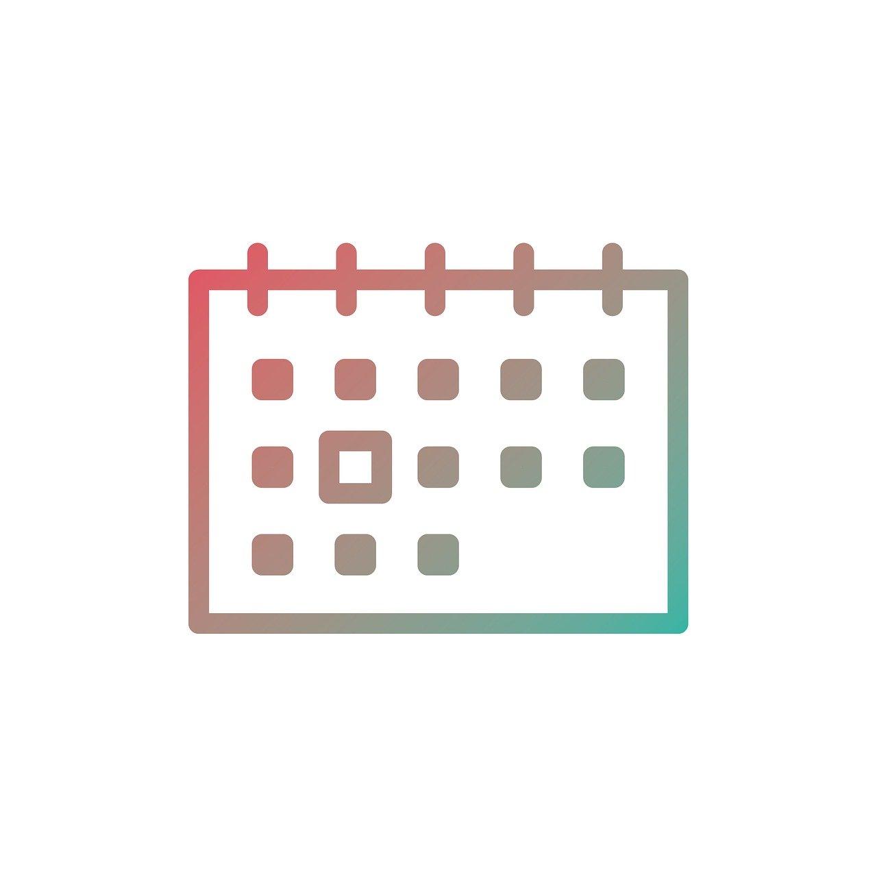 アイコンがついたカレンダー