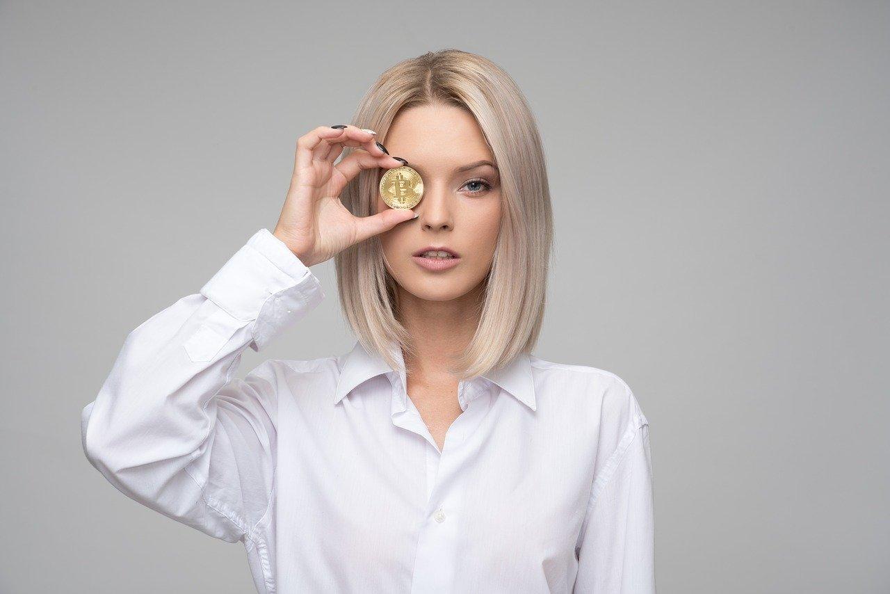 コインの女性