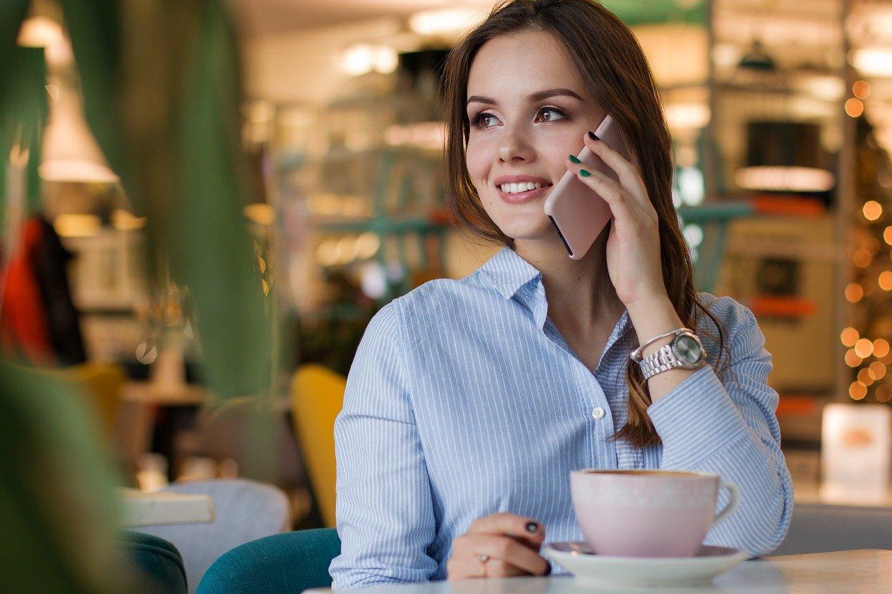 女性、コーヒー
