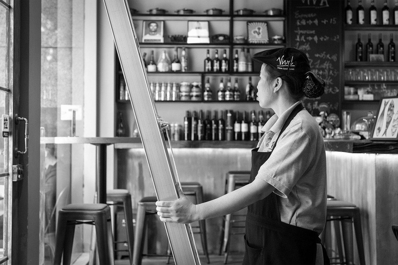 レストラン、労働者
