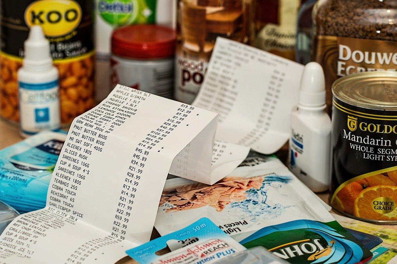 買い物の領収書