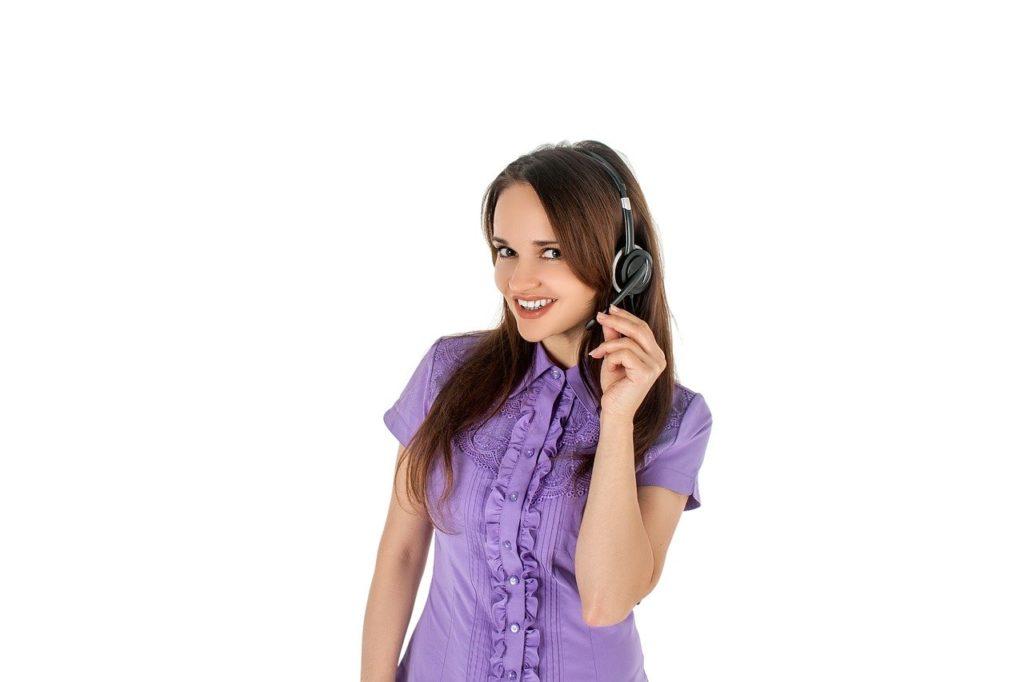 女性、コールセンター
