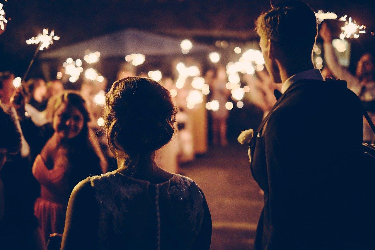 パーティー、結婚式、夫婦