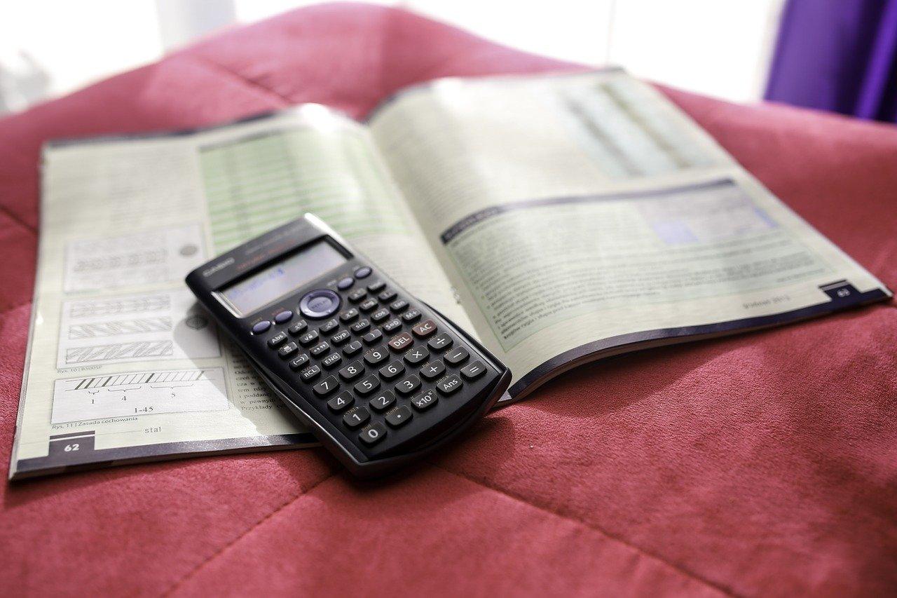 電卓と数字の本