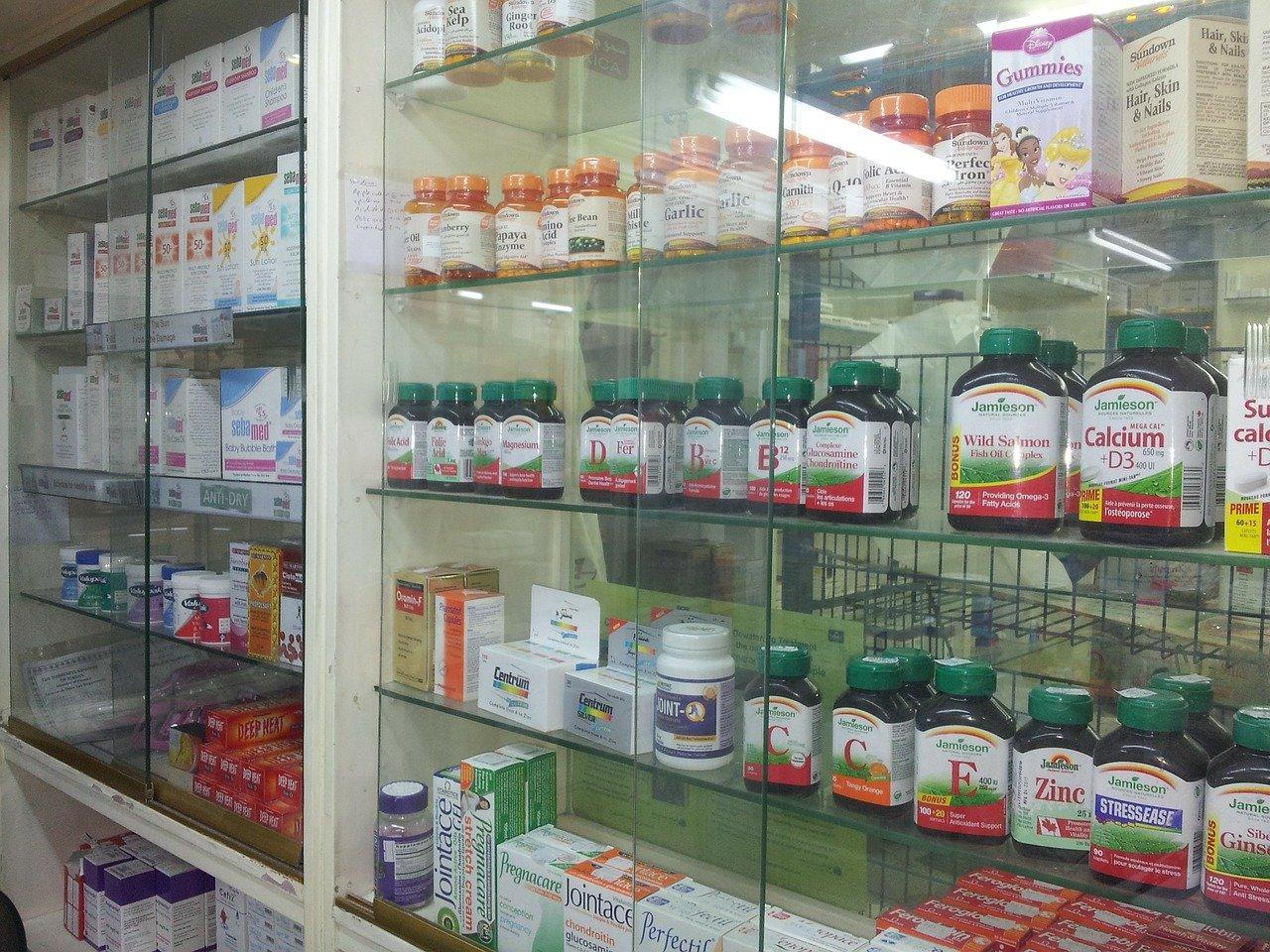 薬局、薬、サプリ