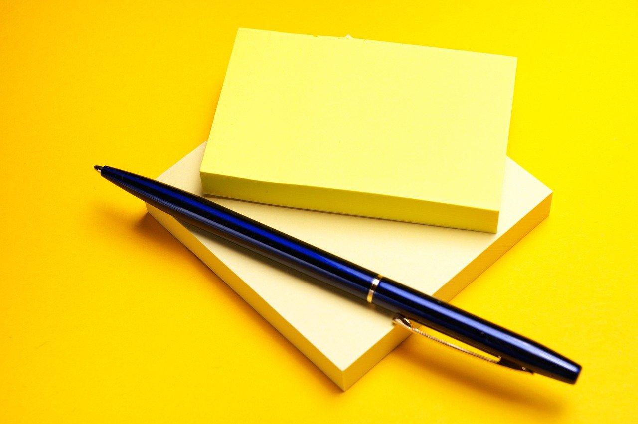 ペンとメモ用紙
