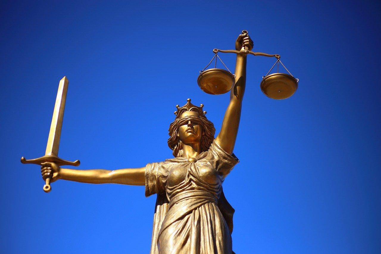 正義、彫像、正義の女神
