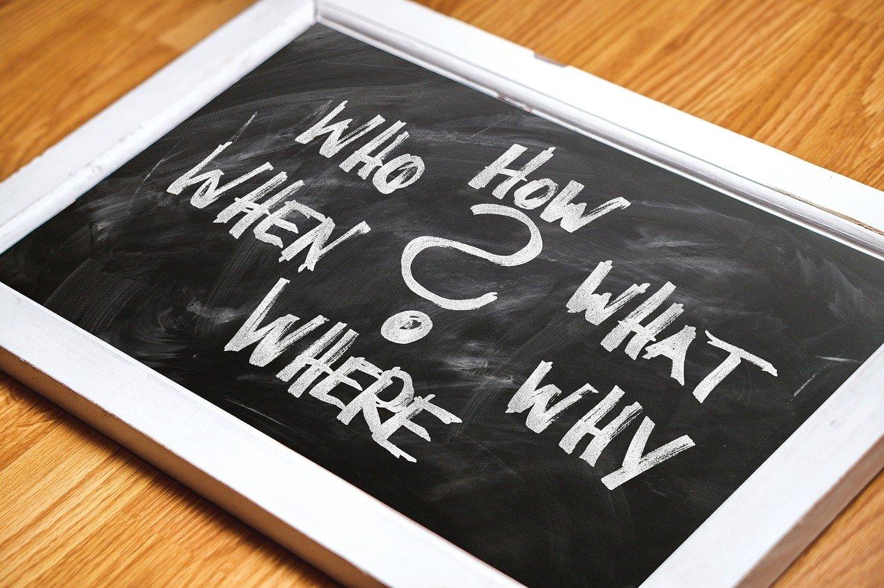 質問、黒板