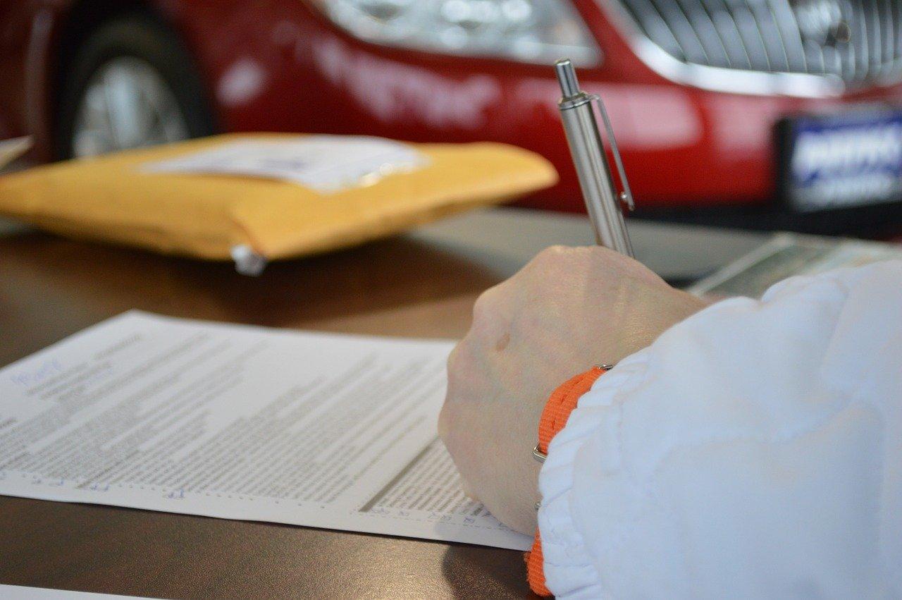 ビジネス、契約、書類