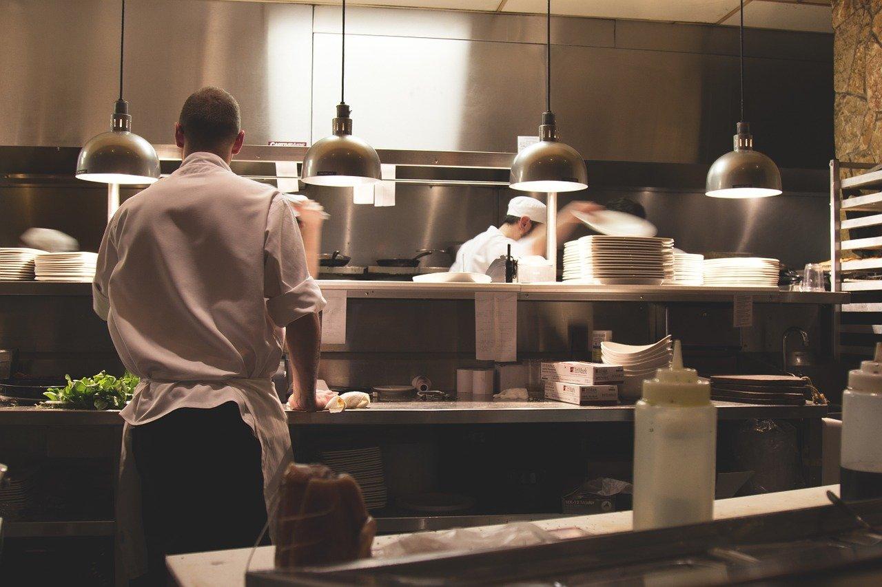 キッチン、仕事、レストラン