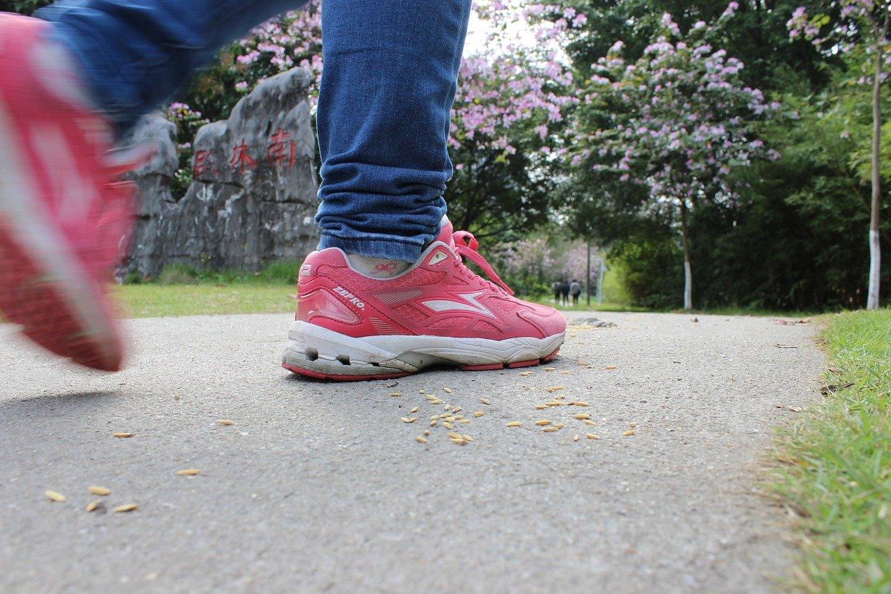 道路、靴、ウォーキング