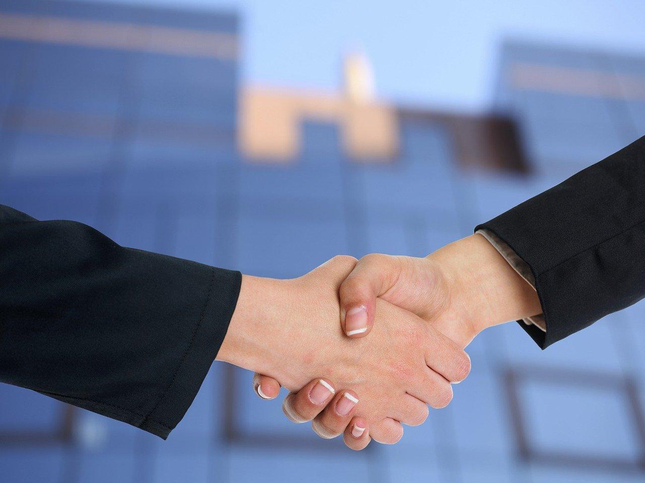 握手、パートナーシップ