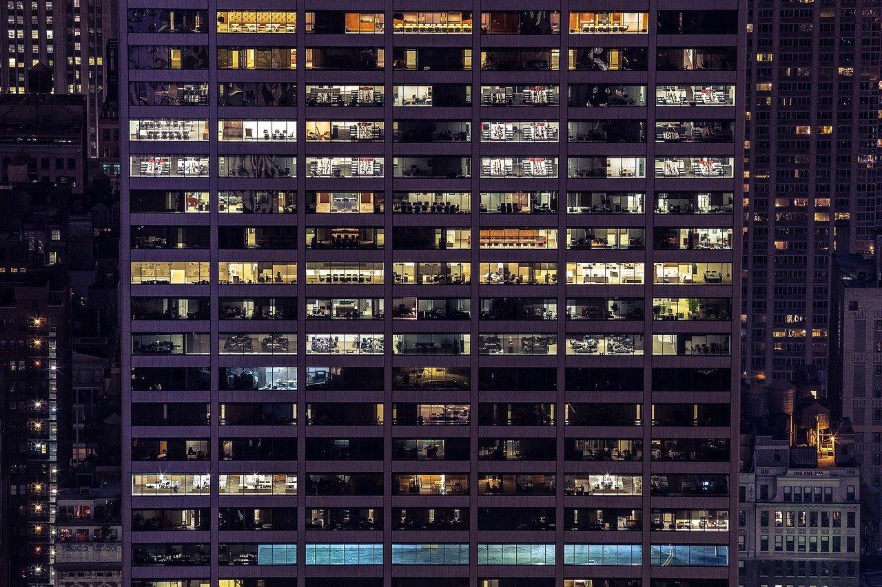 建物、外装、オフィスビル