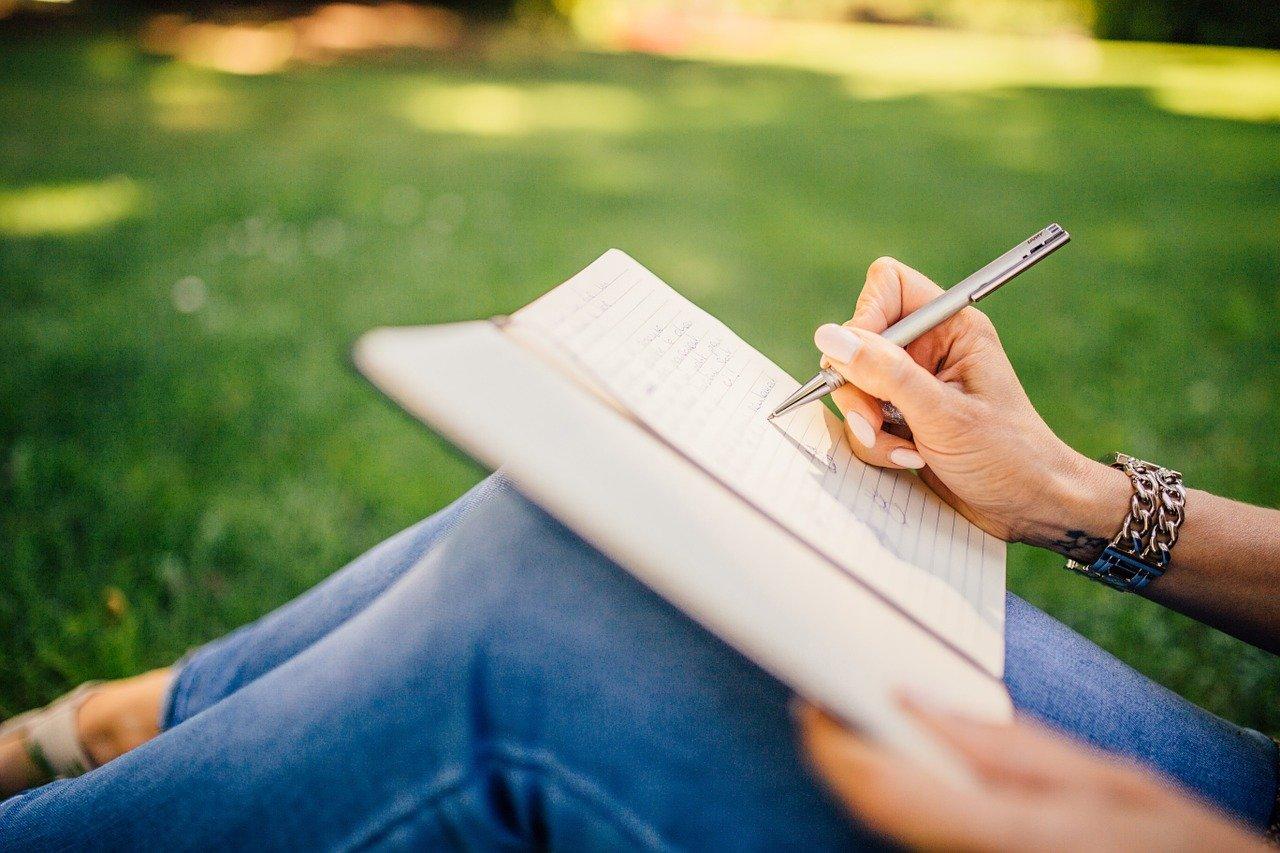ノートに書く画像