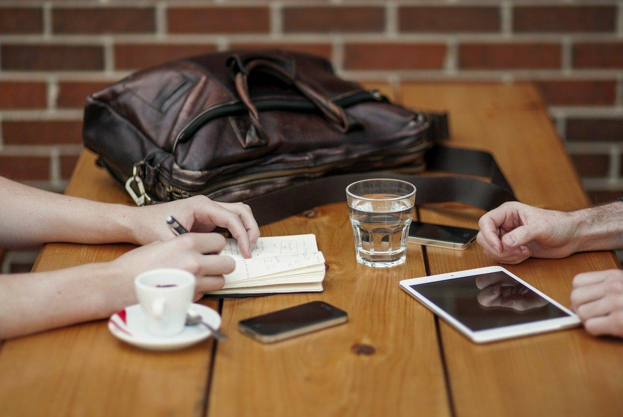 ミーティング、ビジネスパートナー