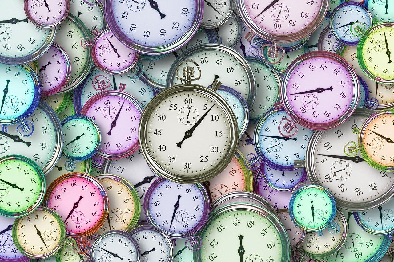 時間、時計、マネージメント