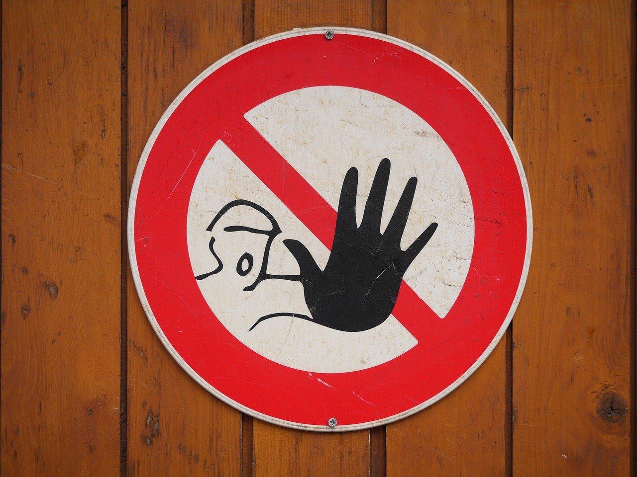 禁止する標識