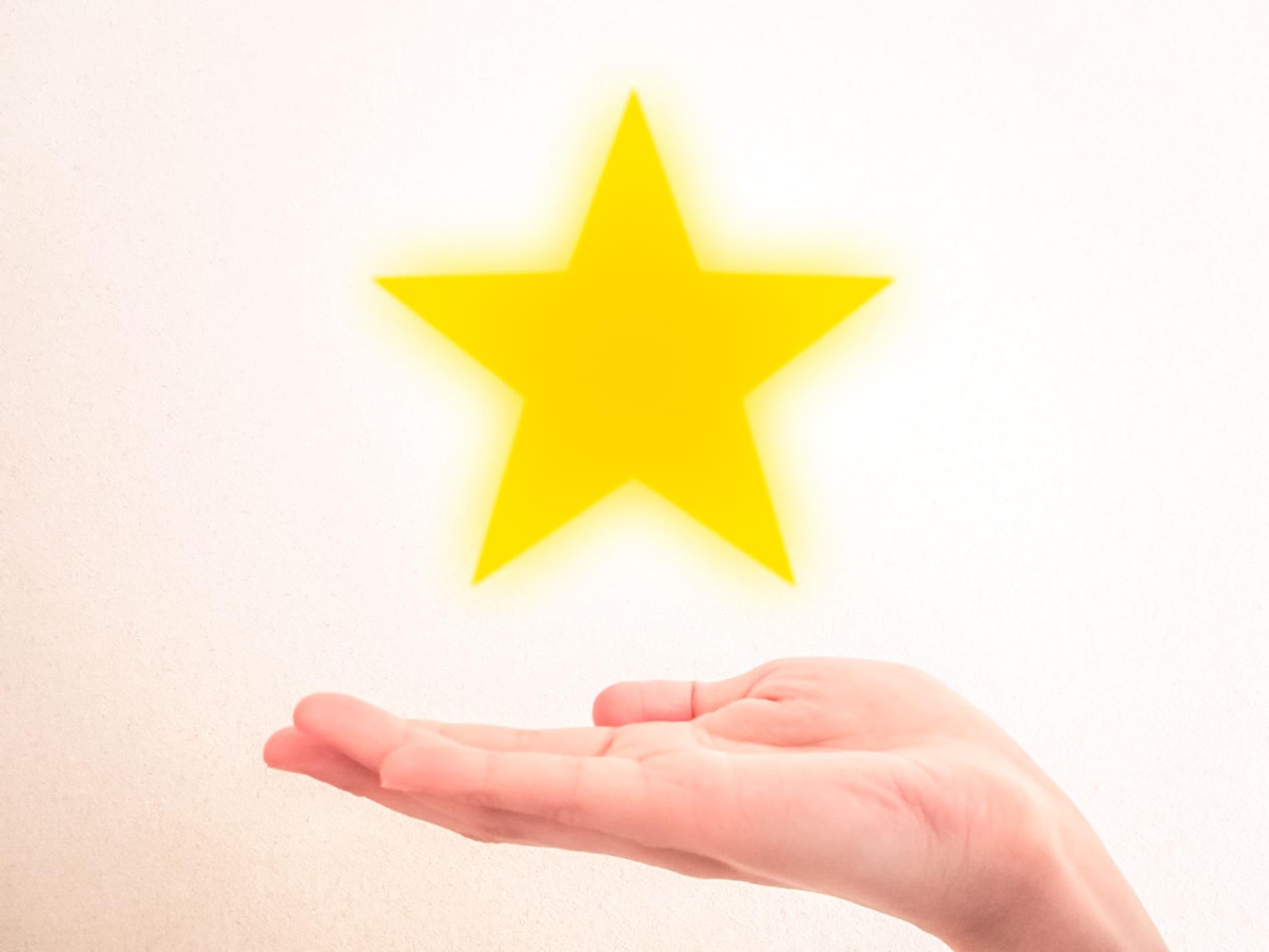 手の上の星