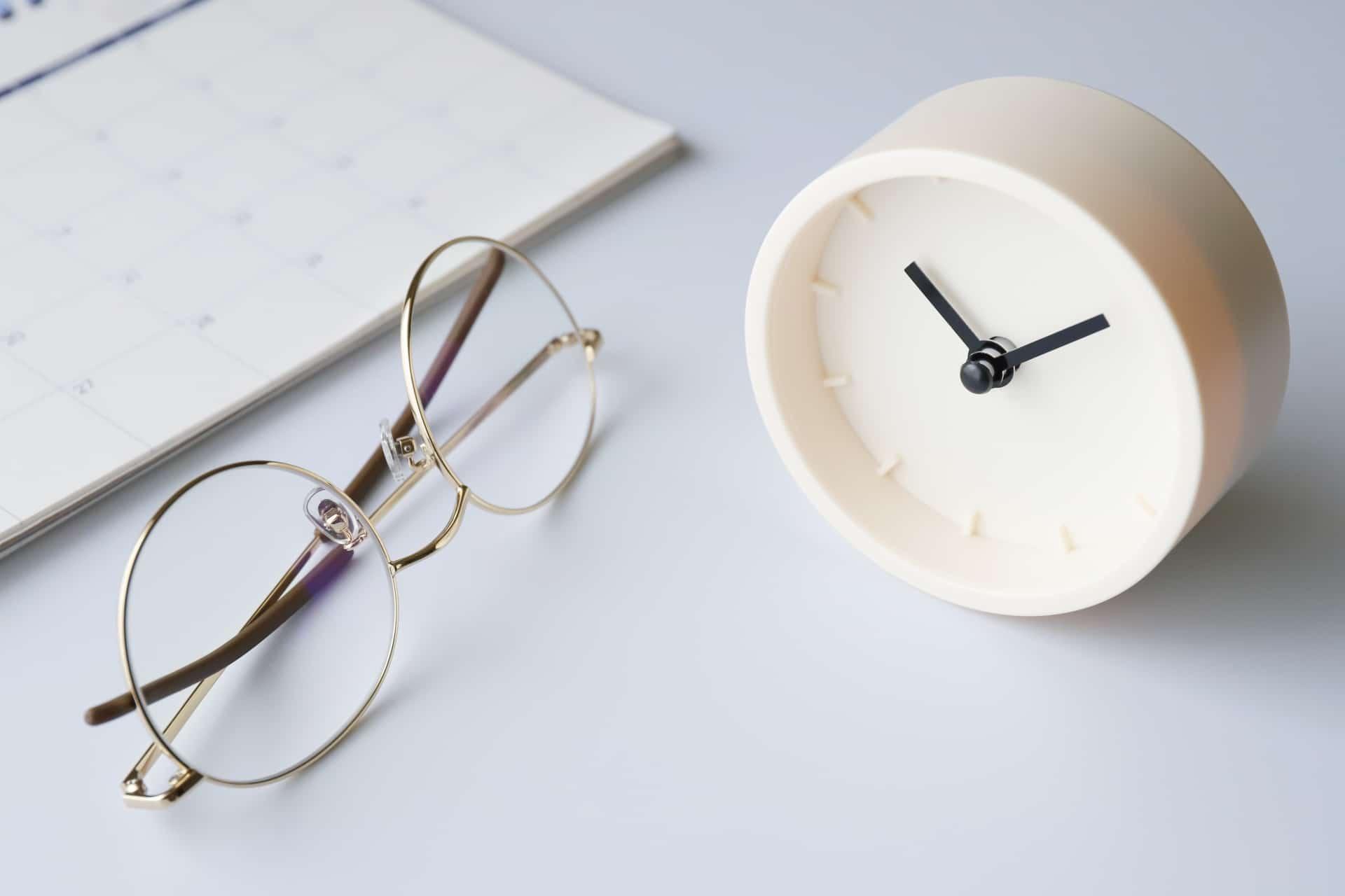 メガネと時計