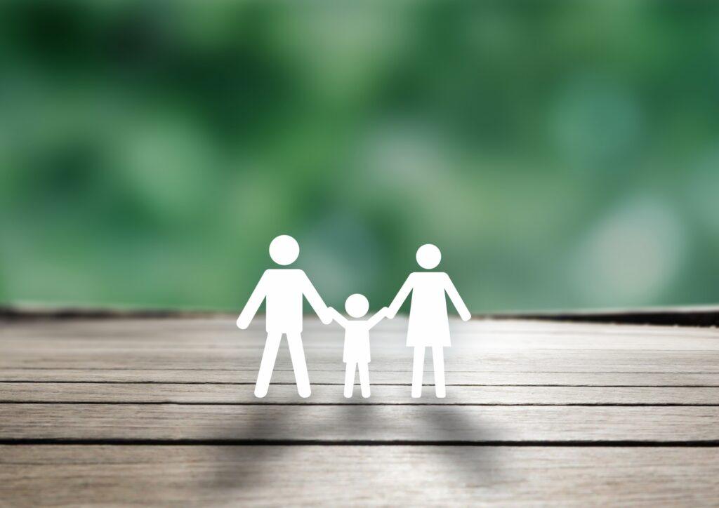 3人家族のピクトグラム