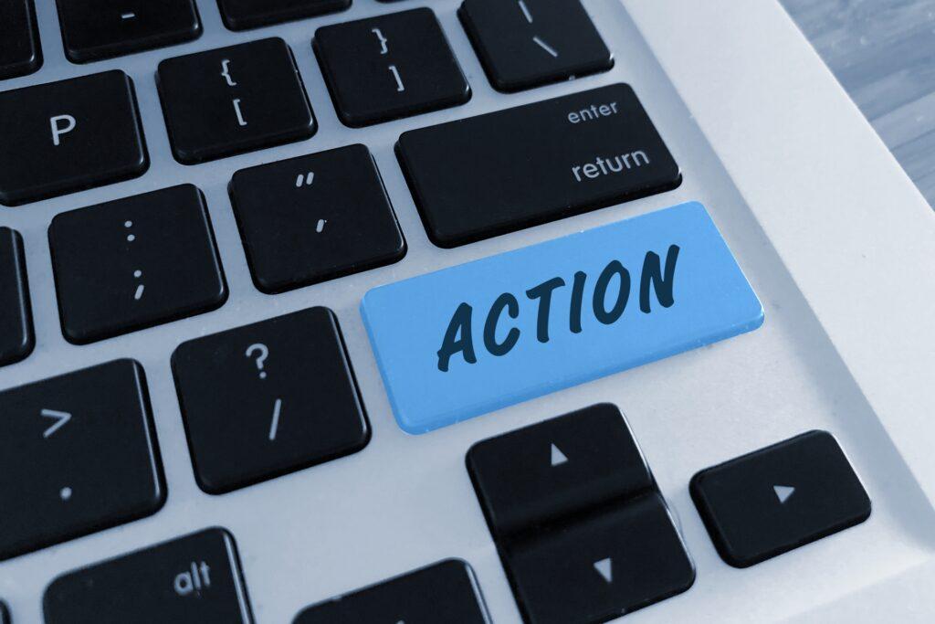 キーボード、アクションの文字