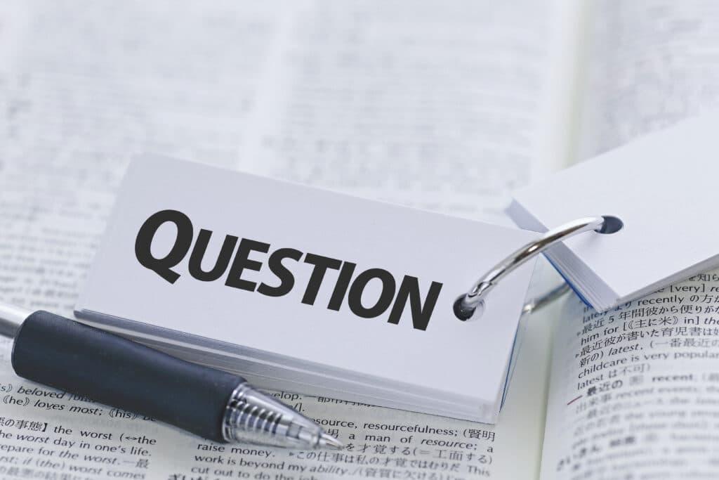 質問の単語カード