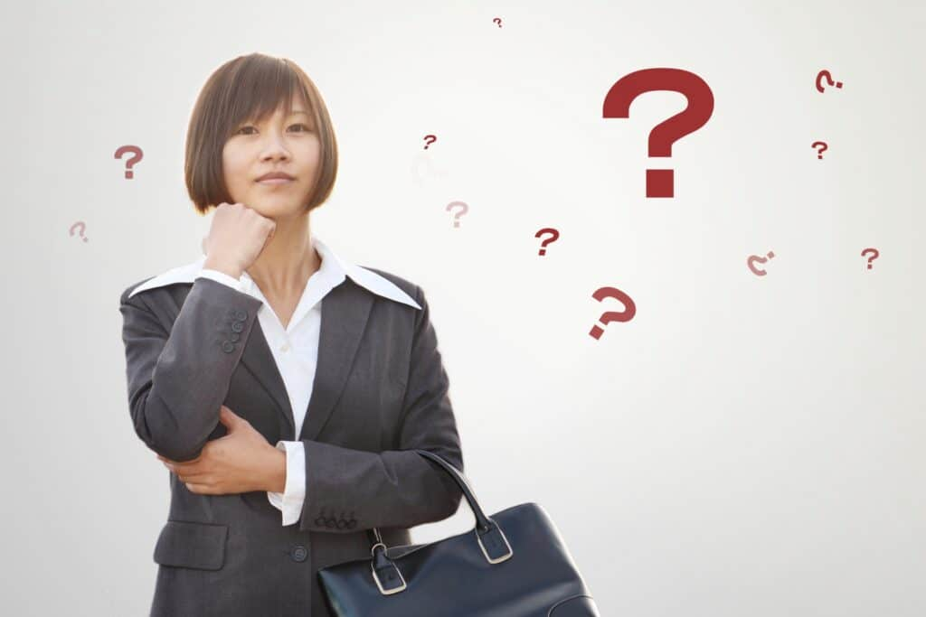 転職中の女性の疑問