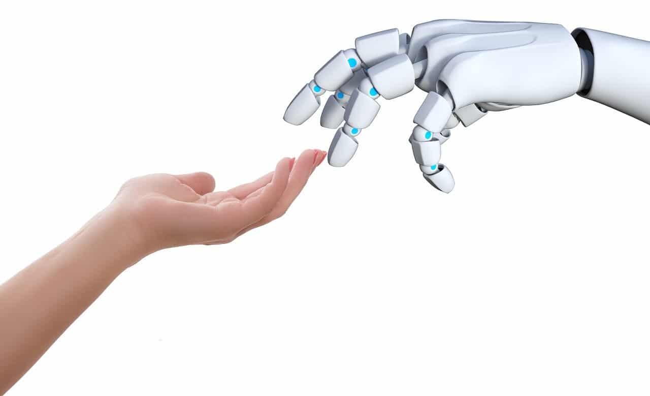 人間、ロボット、手