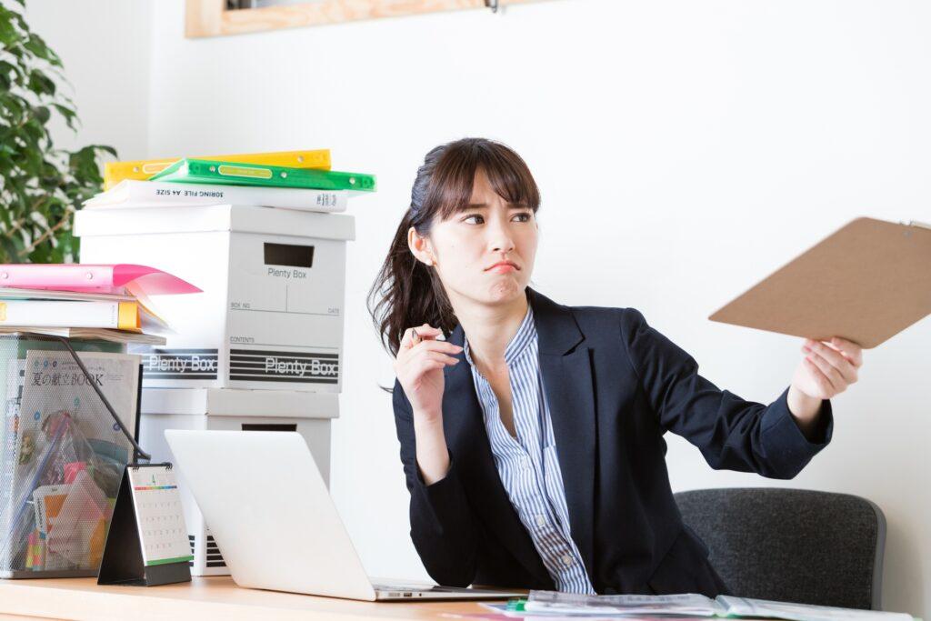 仕事をしている女性
