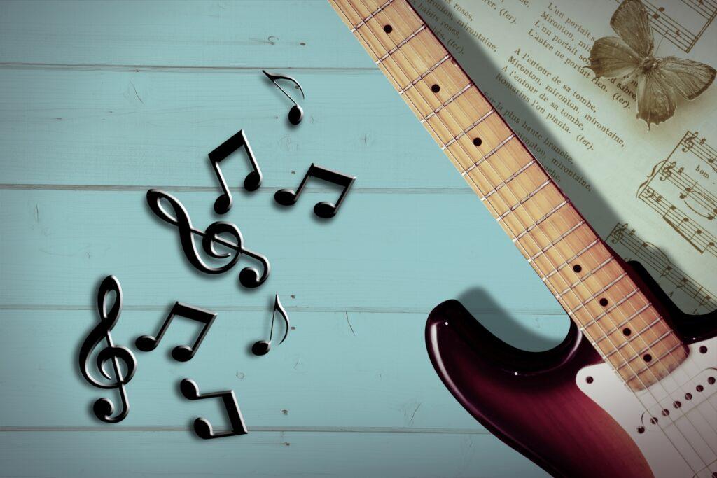 音符とギター