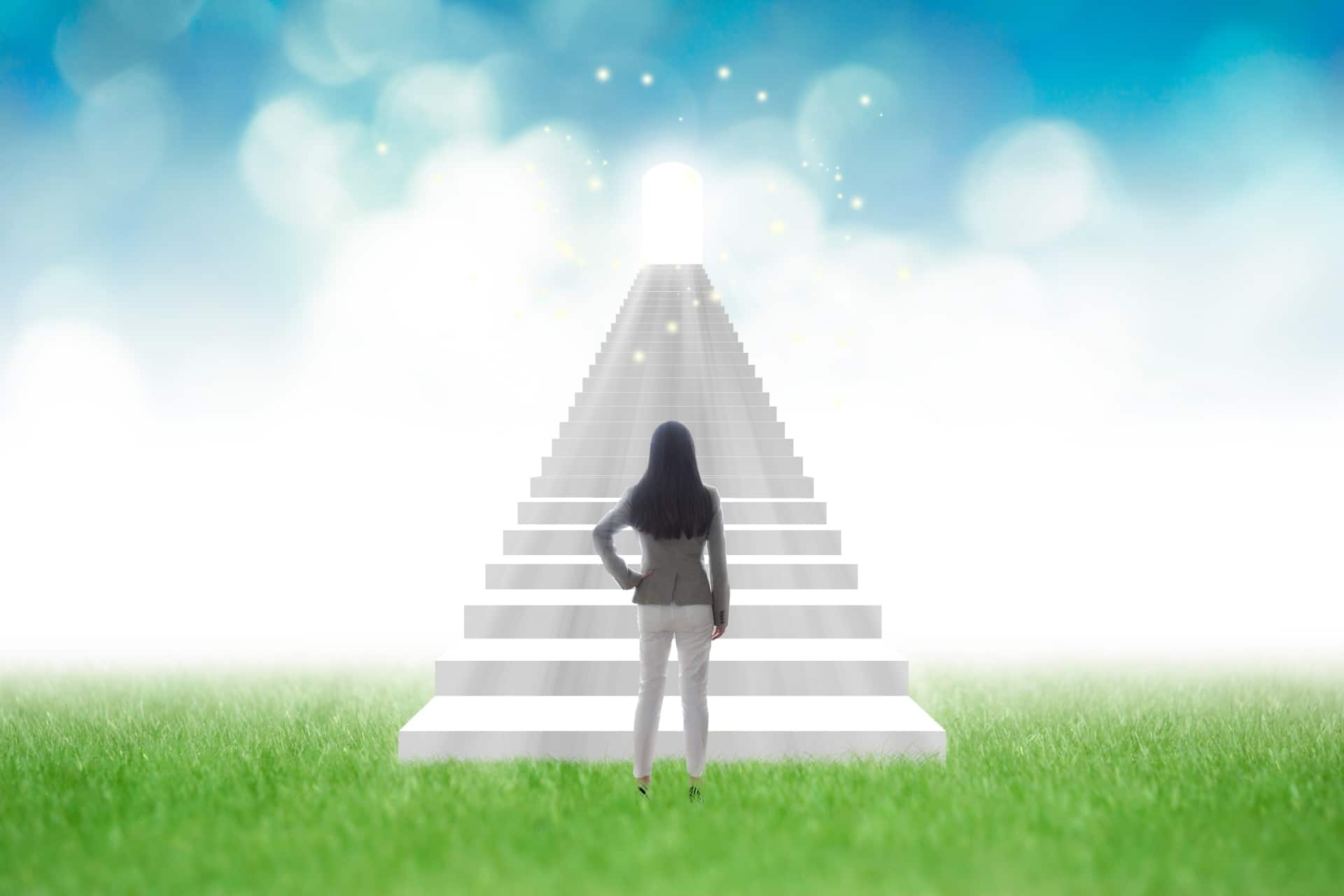 女性、ステップアップ