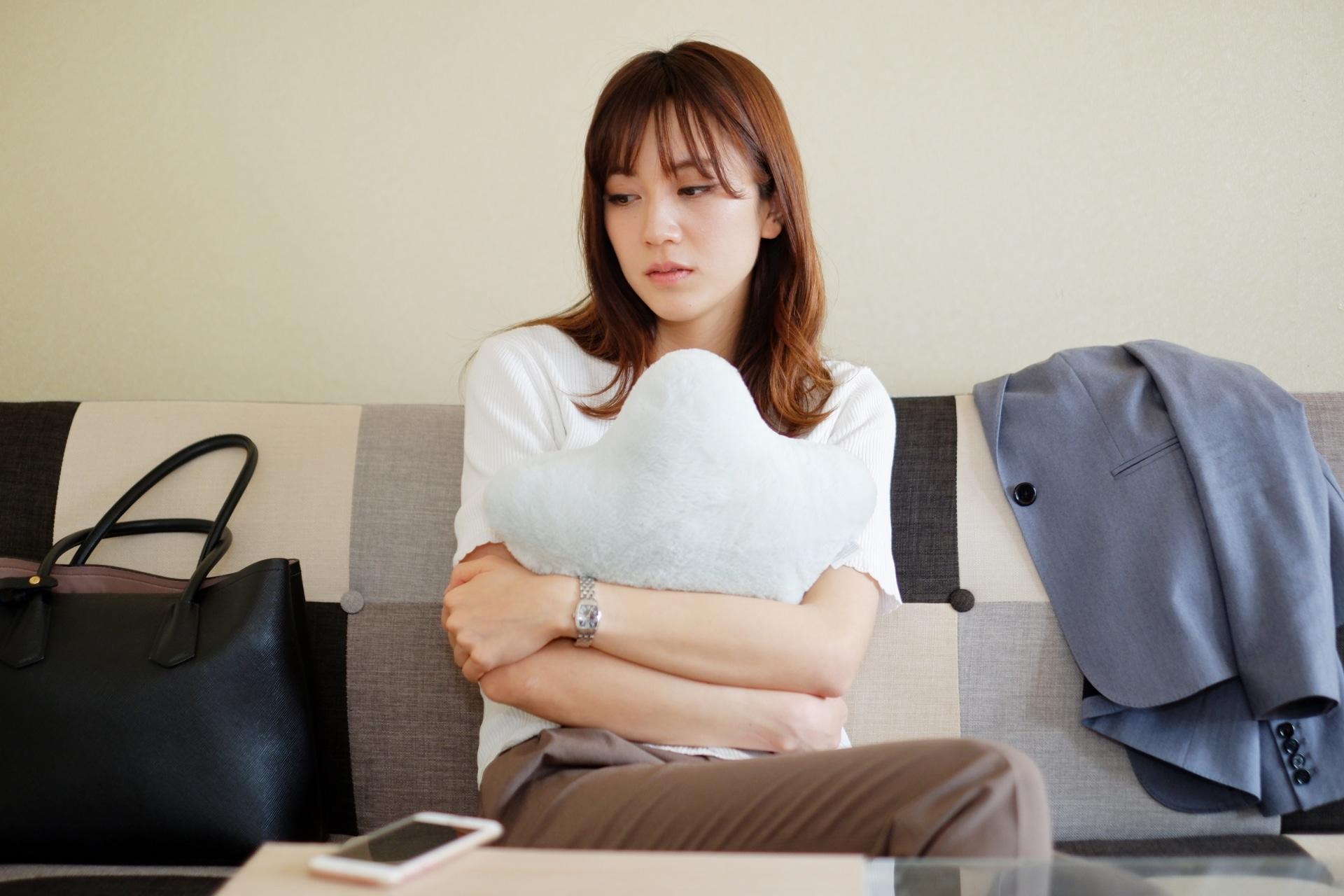 フォファ、疲労、落ち込む女性