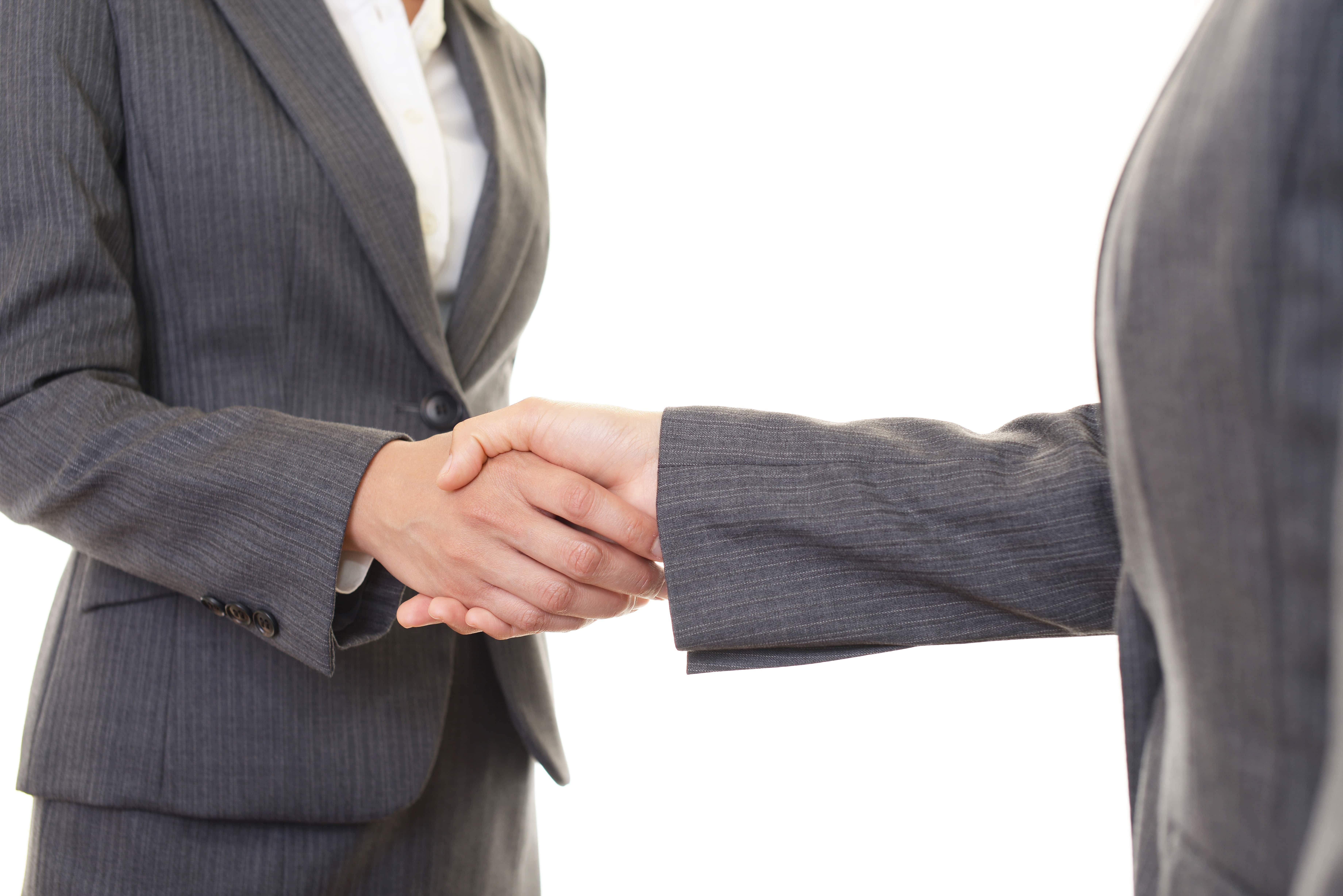 握手 女性