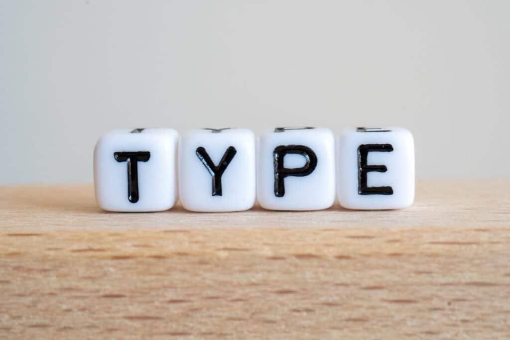 TYPEの文字