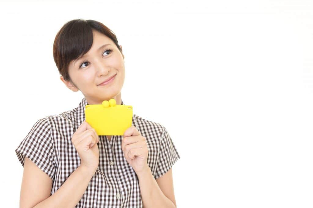 女性、財布