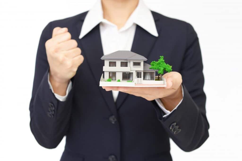 家の模型、ガッツポーズ
