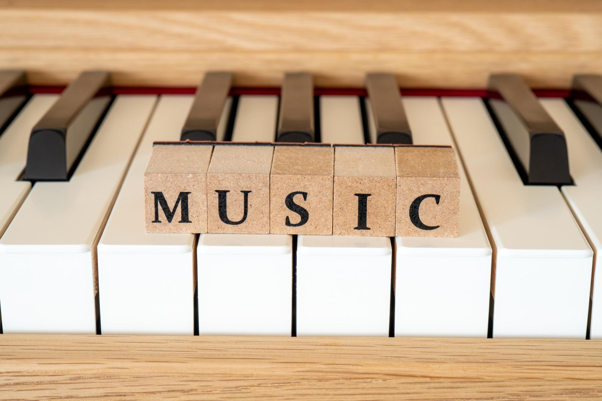 MUSICの文字