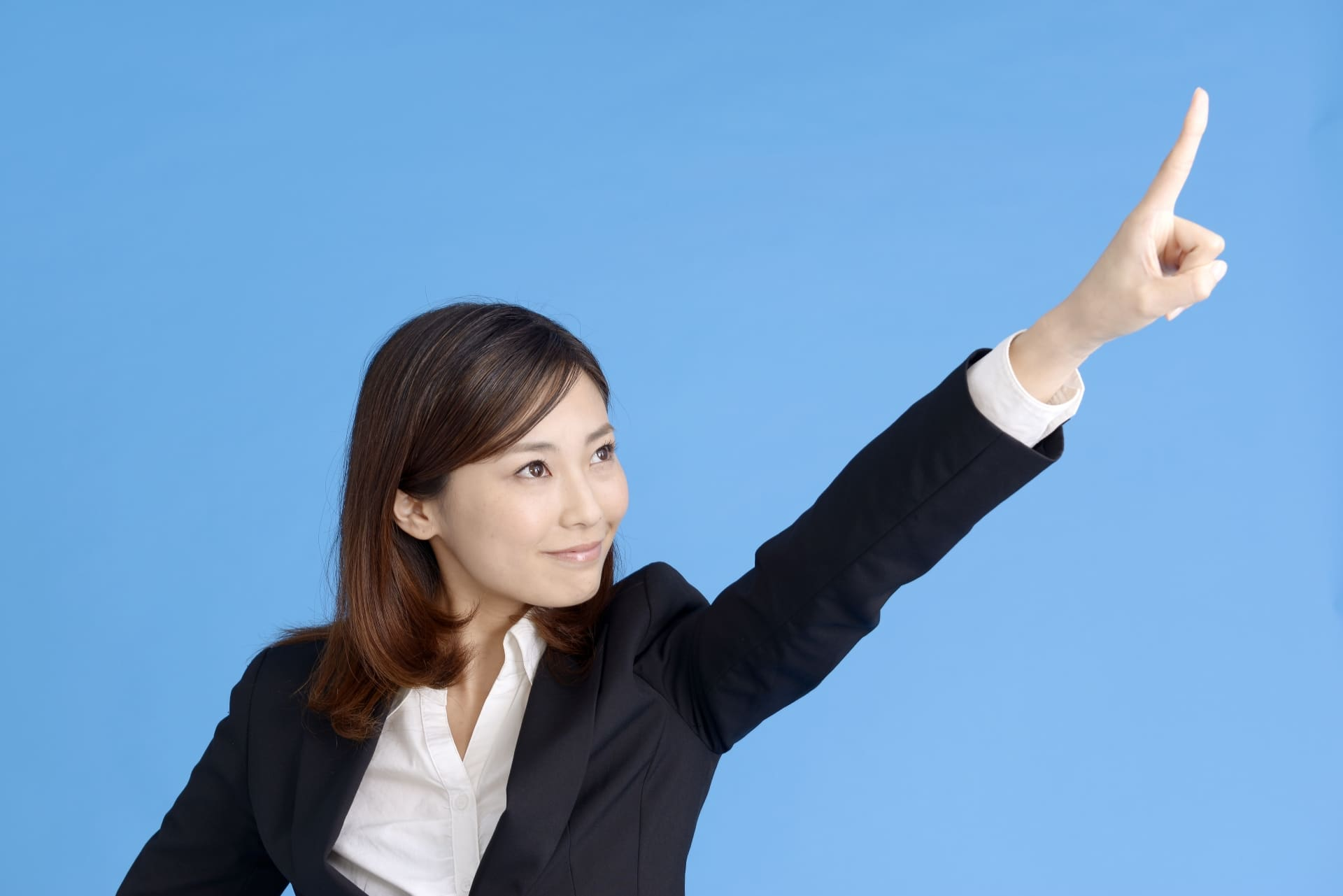 目標に向かって進む女性