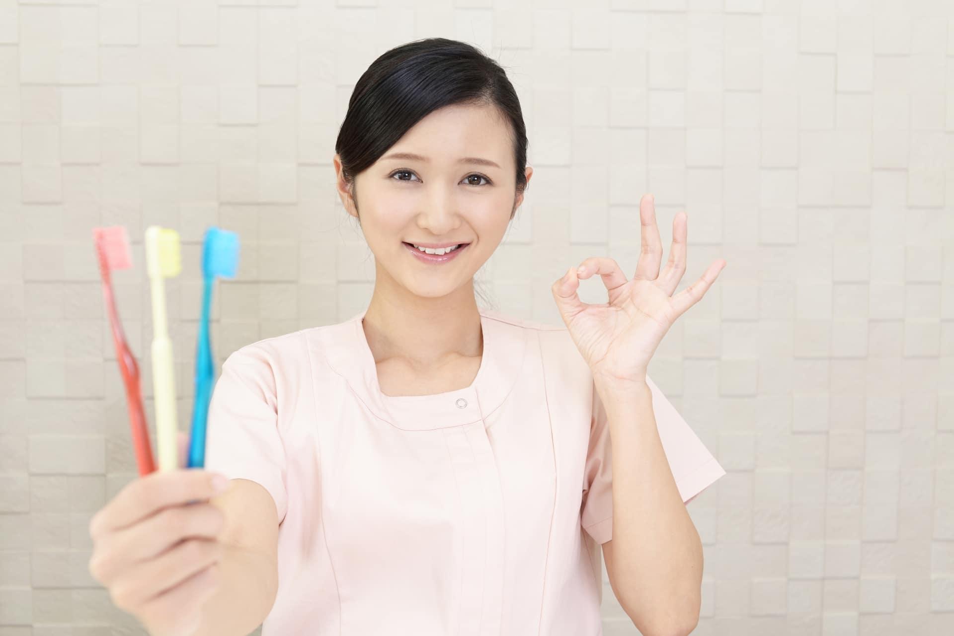 歯科助手,歯ブラシ